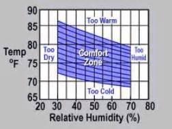 comfortable indoor temperature human comfort