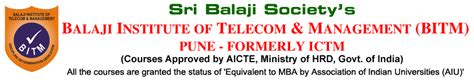 Mba In Telecom Management In Mumbai by Balaji Institute Of Telecom And Management Bitm Tathawade