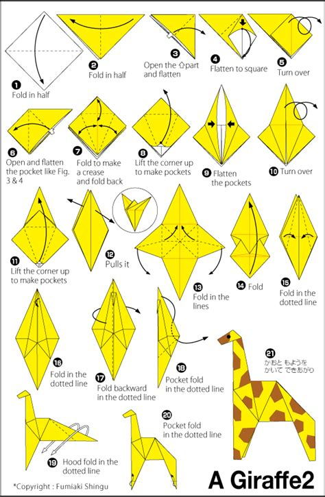 How To Make Origami Giraffe - giraffe 2 easy origami for