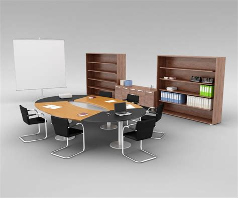 office conference room furniture 3d model cgtrader