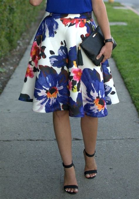 fashion skirts floral and skirts on