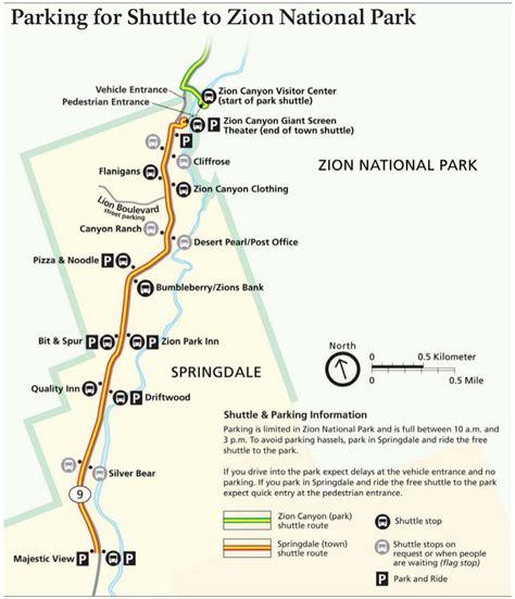 zion park map zion maps npmaps just free maps period