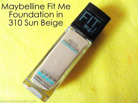 Maybelline Fit Me Foundation Di Counter maybelline fit me matte poreless foundation in 310 sun