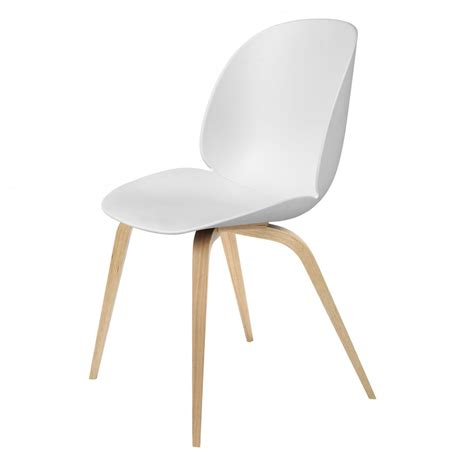 Oak And White Dining Chairs Beetle Dining Chair White Oak Gubi