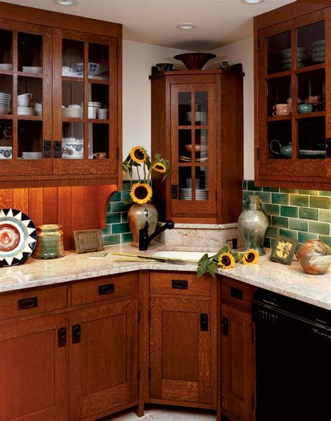 mission style kitchen cabinets quarter sawn oak looking to stickley furniture for inspiration the owners