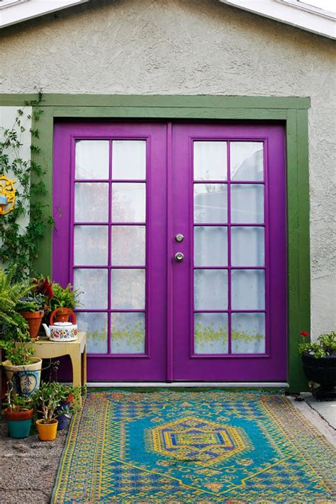 cool front doors cool purple color front door ideas