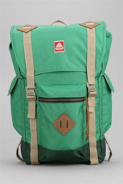 adobree adobree backpack jansport adobe backpack in green for lyst