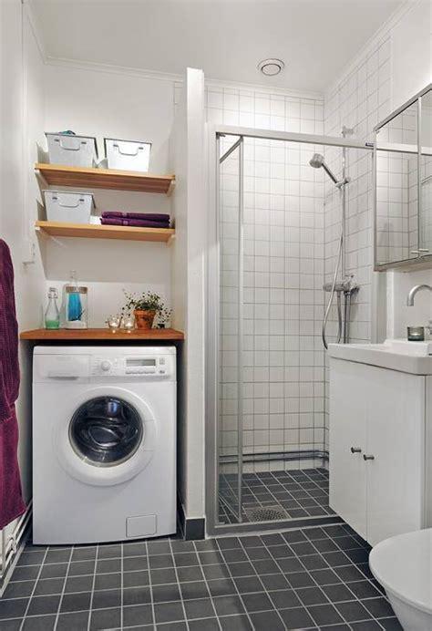 como integrar la lavanderia en  bano mini ideas casas