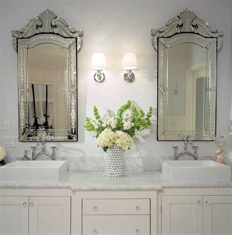 ivory double vanity transitional bathroom
