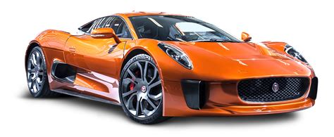 orange sports cars jaguar c x75 james bond orange car png image pngpix