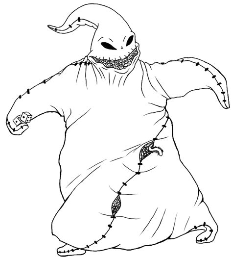 nightmare before coloring pages nightmare oogie boogie before coloring pages