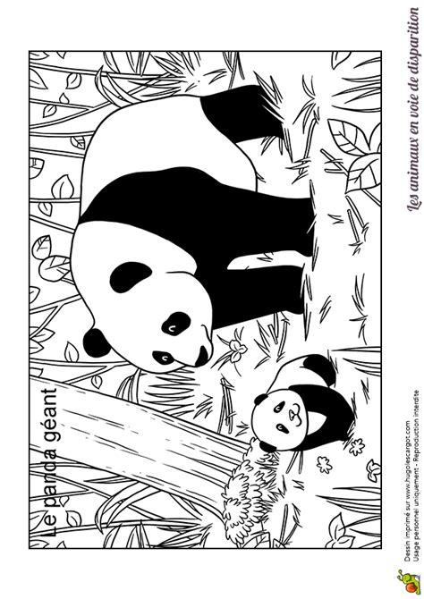 Coloriage Animaux En Danger Panda G 233 Ant Hugolescargot Com