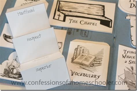 mini book report moby literature unit and lapbook confessions of a