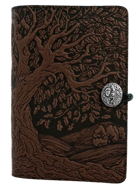 Handmade Journal Covers - leather refillable journal tree of 2 sizes 3