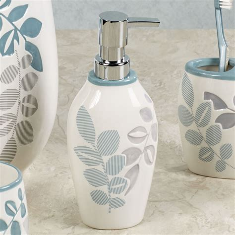 Leaf Bathroom Accessories Delano Leaf Design Ceramic Bath Accessories