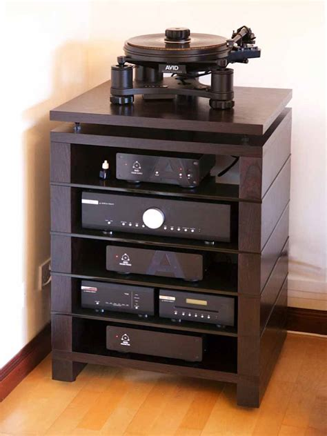 wood audio cabinets hifi stand audinni cabinet av audio four five six