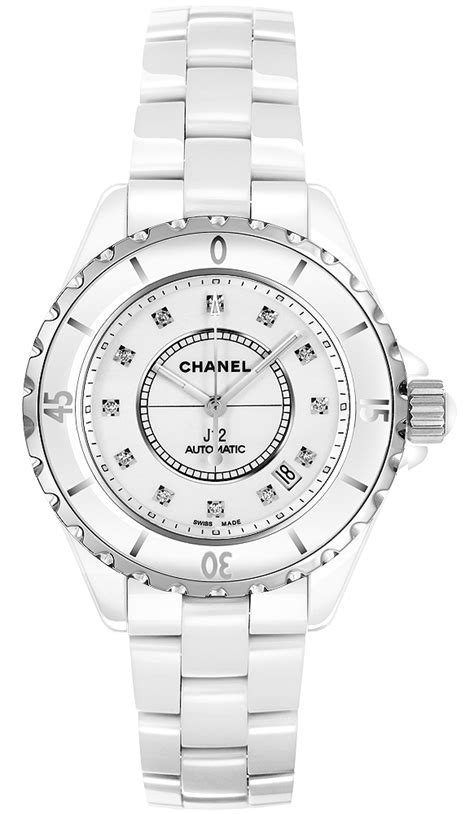 Chanel J12 Silver White Ceramic h1629 j12 chanel ceramic white