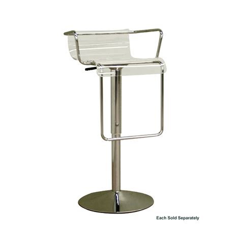Wholesale Bar Stools by Wholesale Interiors Adjustable Swivel Bar Stool Clear Bs 078 Clear