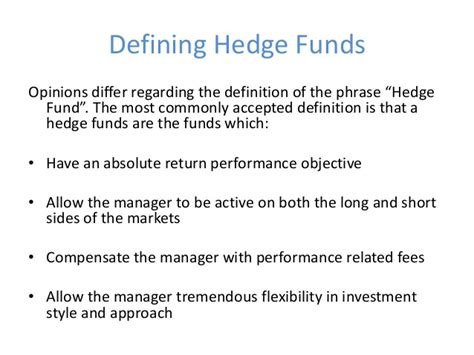 hedge fund definition hedge funds the indian context and the regulatory framework