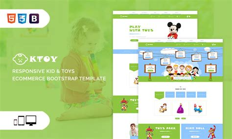 Ktoy Responsive Kid Toys Ecommerce Bootstrap Template Themetidy Responsive Ecommerce Template Bootstrap
