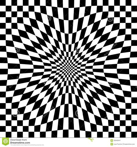 black and white checkerboard pattern compressed optical check stock image image 35945941