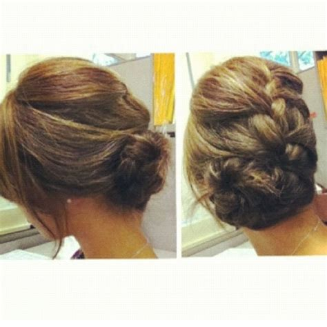 formal side french braid updo 114 best images about side buns on pinterest side bun