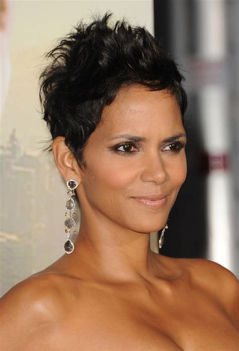 style pixie like halle berry halle berry hairstyles short messy black pixie cut