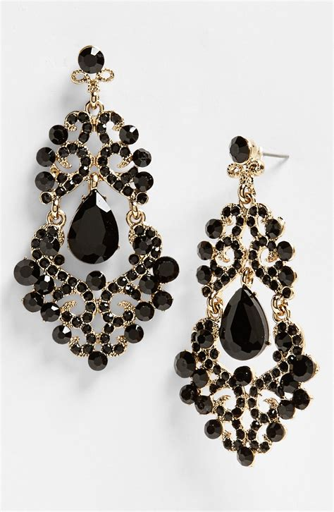 Black Earrings black gold earrings black gold
