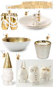 White And Gold Home Decor Home Decor Ceramic White Gold Accents Blush And Jelly