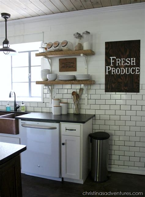 diy farmhouse kitchen makeover all the details christinas adventures