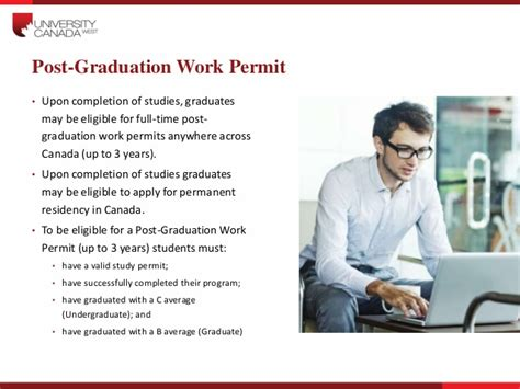 Work Permit In Canada After Mba Quora by Canada West Presentation 271014 V1