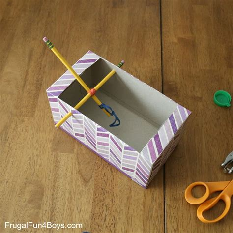 How To Make A Paper Catapult - tissue box catapult frugal for boys and