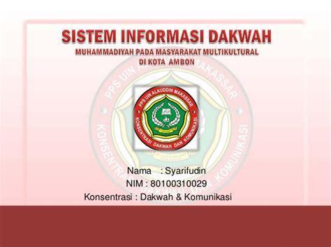 Komunikasi Multikultural Penulis Andrik Purwasito ambon syarifudin sistem informasi dakwah