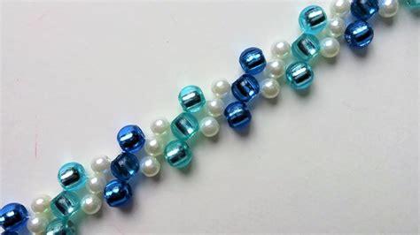 pony bead bracelet patterns diy blue bracelet with pony easy beading pattern