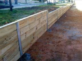 galvanised h channel steel posts sleepers retaining wall