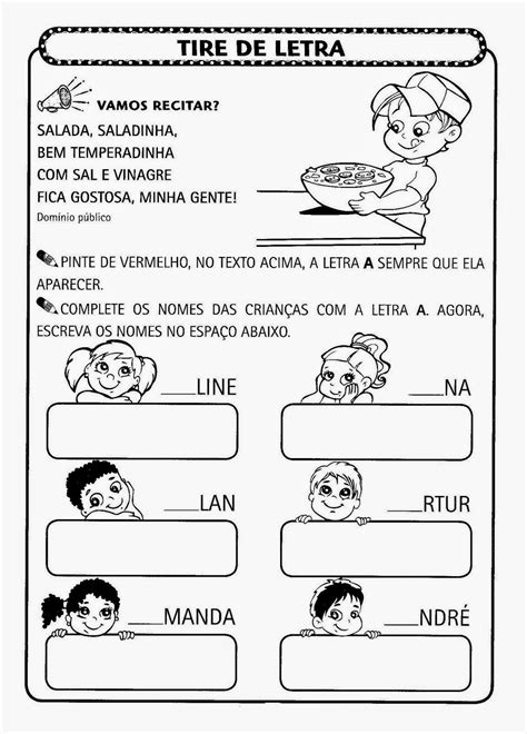 Atividades Para Pré-escola - Escolinha da Pri