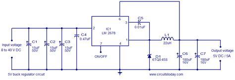 12v to 5v resistor circuit image 5v voltage regulator circuit