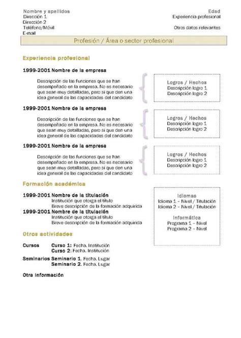 Modelo Curriculum Vitae Resumen Curr 237 Culum Vitae Modelo 2 Tienda De Curriculum Vitae