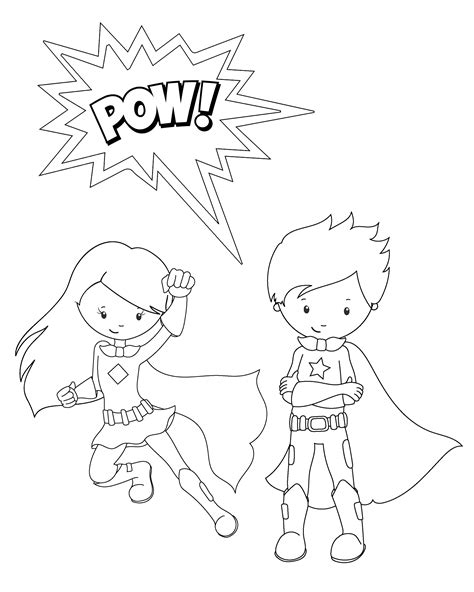 coloring pictures of girl superheroes free printable superhero coloring sheets for kids crazy
