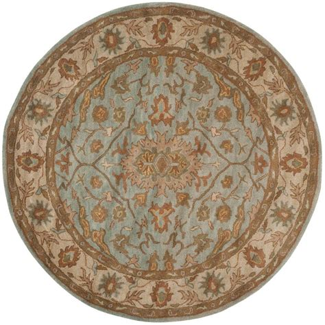 6ft circular rugs safavieh heritage light blue ivory 6 ft x 6 ft area rug hg937a 6r the home depot