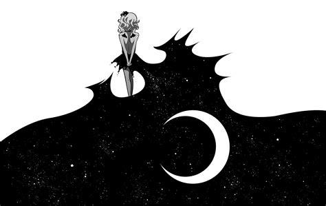 black and white drawing wallpaper anime art moon girl black white wallpaper 6268x3957