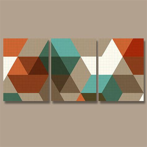 geometric pattern wall canvas geometric wall art canvas artwork pottery from trm design