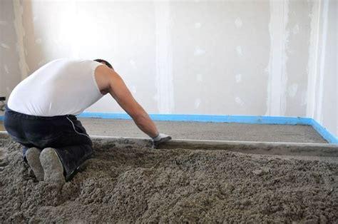 come fare un massetto per pavimento massetto tecniche di fai da te come realizzare un massetto
