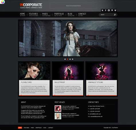 40 well designed free html5 and css3 templates