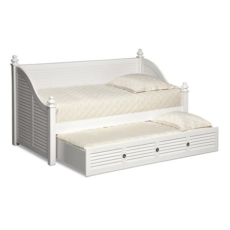 White Daybed With Trundle Seaside Daybed With Trundle White American Signature Furniture
