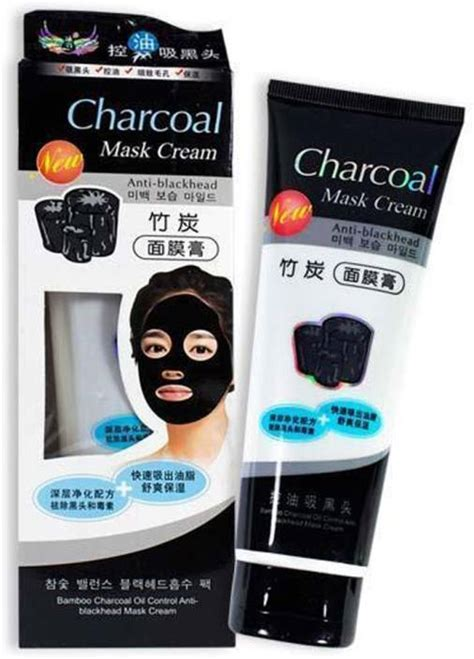 LUV LI CHARCOAL MASK CREAM FOR DAILY POLLUTION FREE SKIN, BLACK HEAD REMOVE, DEEP CLEANSING, OIL