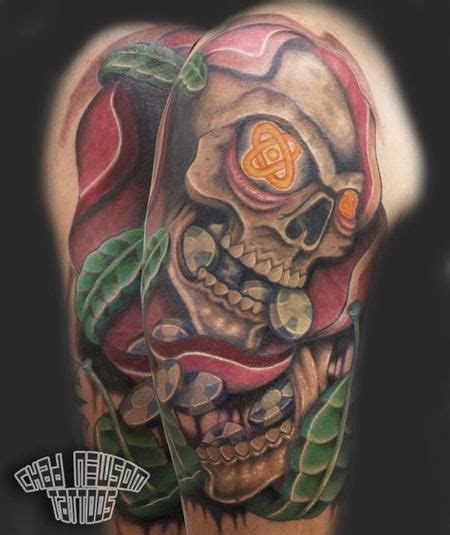 poker chip tattoo chad newsom skull puking chips skull tattoos