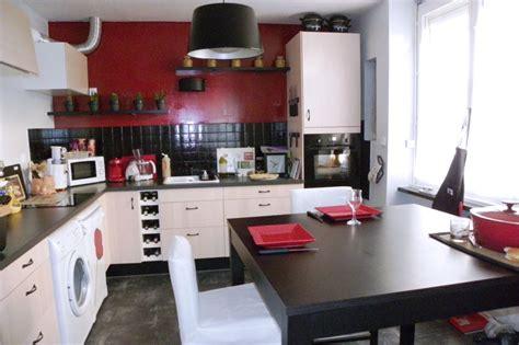deco cuisine noir et blanc d 233 coration cuisine blanc et exemples d am 233 nagements