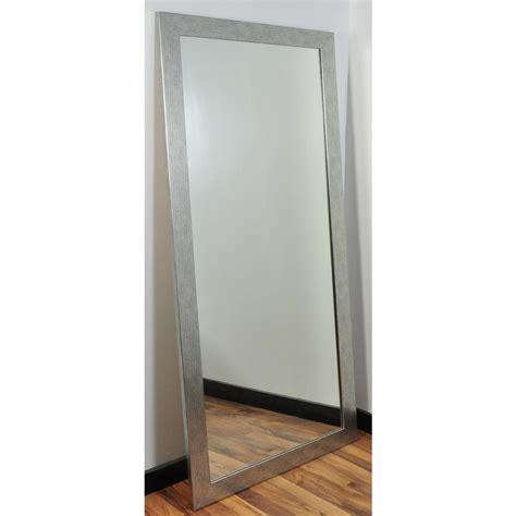 black mirror grain modern silver grain tall framed mirror bm004ts the home