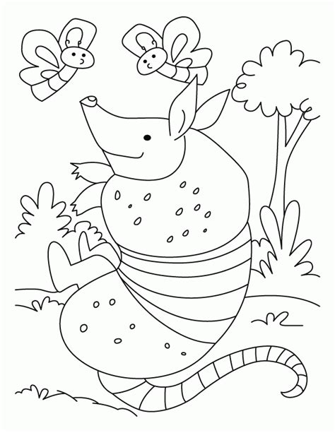 armadillo lizard coloring page bells clipart many interesting cliparts